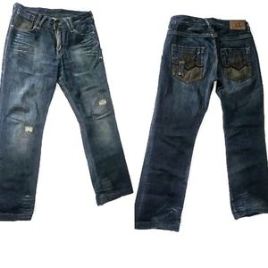 Armani Exchange A/X Destroyed Jeans Chain 30 R
